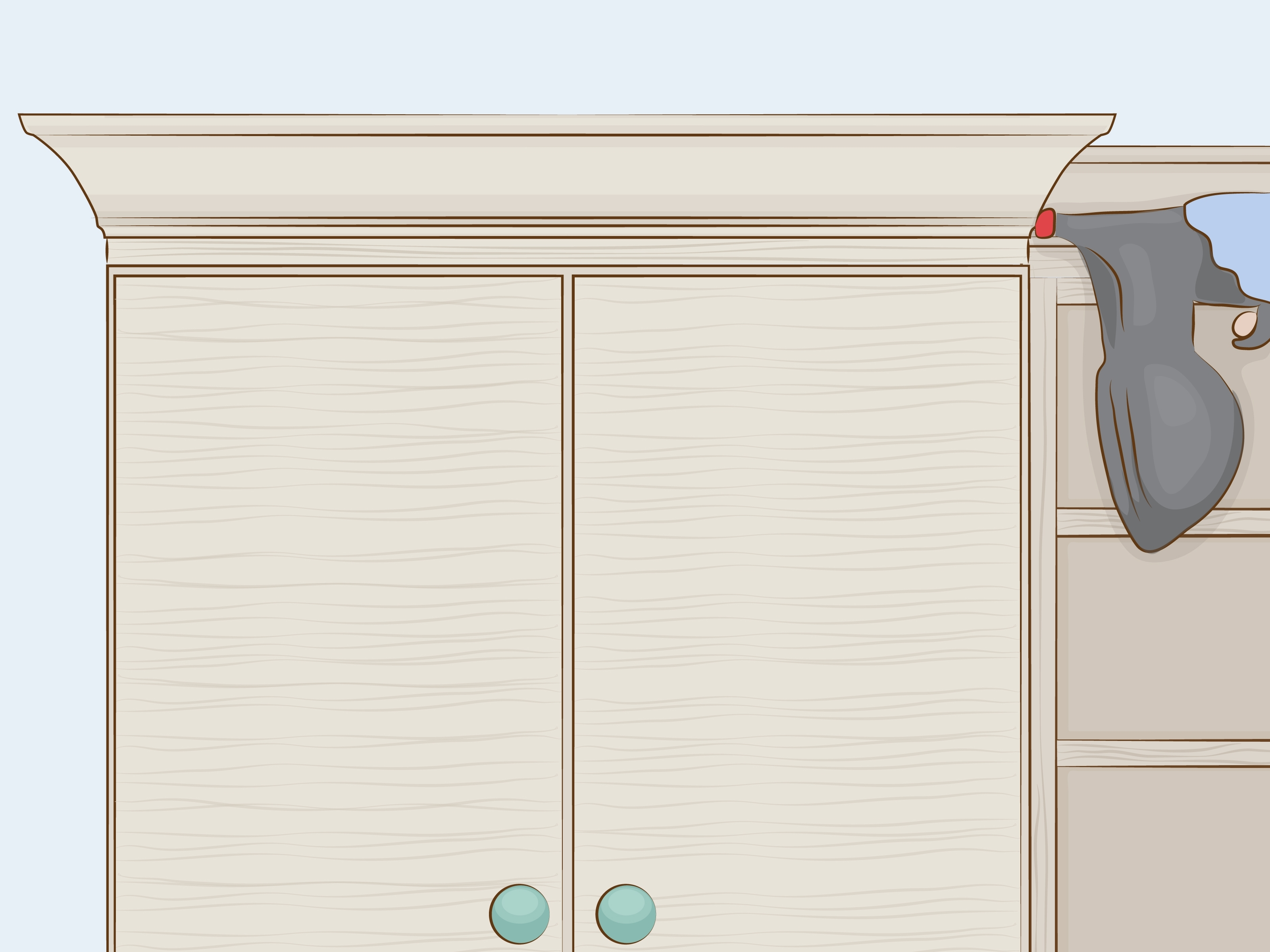 How To Cut Crown Molding For Cabinets: 12 Steps (With Pictures) throughout Walnut Finish Crown Moulding Sideboards (Image 22 of 30)