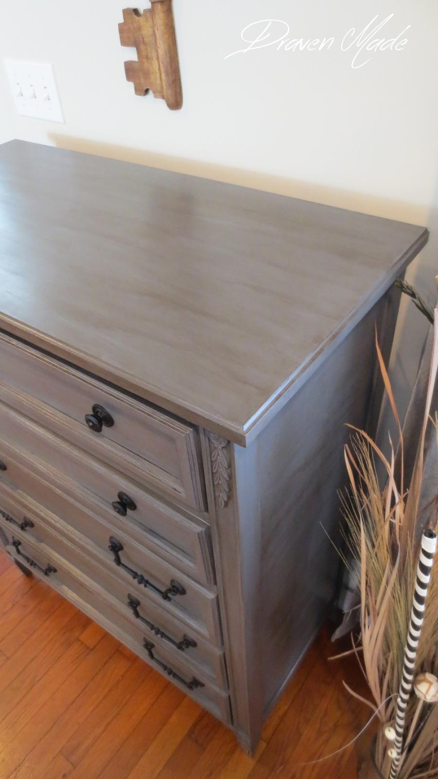 How To Glaze Furniture: Bronze Gray Dresser | Painting Tips in Burnt Tannin 4 Door Sideboards (Image 15 of 30)