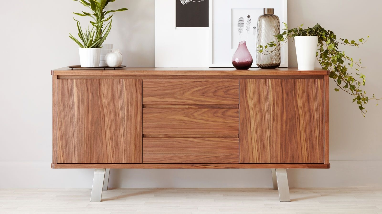 Featured Photo of Walnut Finish Contempo Sideboards