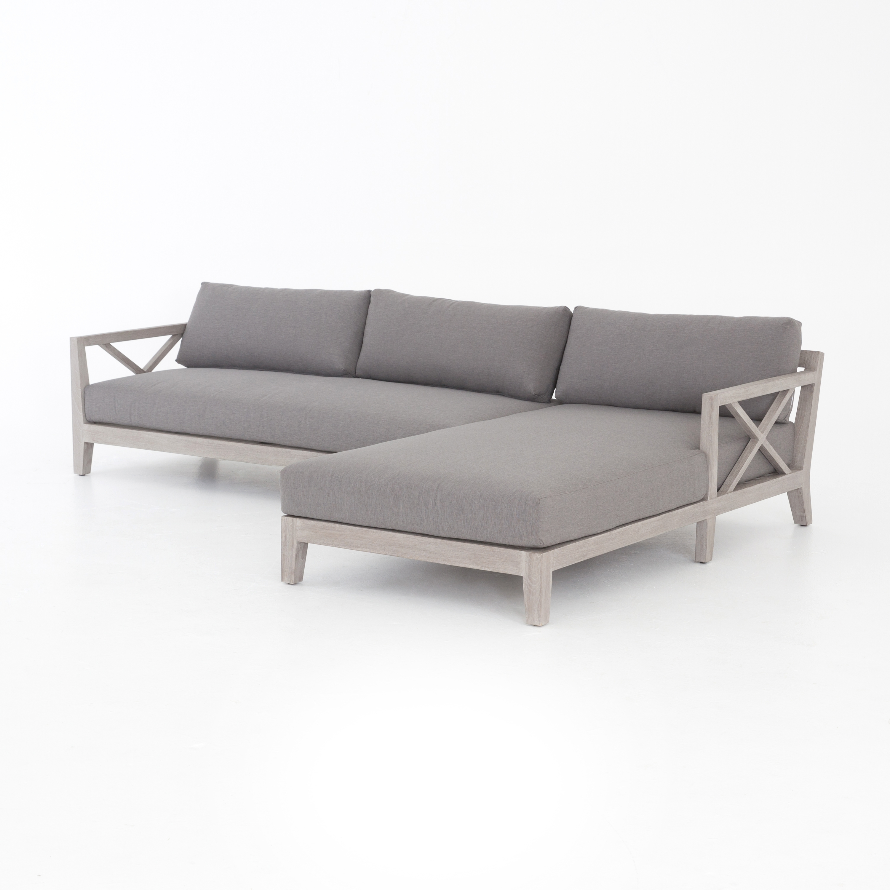 Huntington 2-Pc Outdoor Sectional Raf Chaise • Q&c Home intended for Cosmos Grey 2 Piece Sectionals With Raf Chaise (Image 12 of 30)