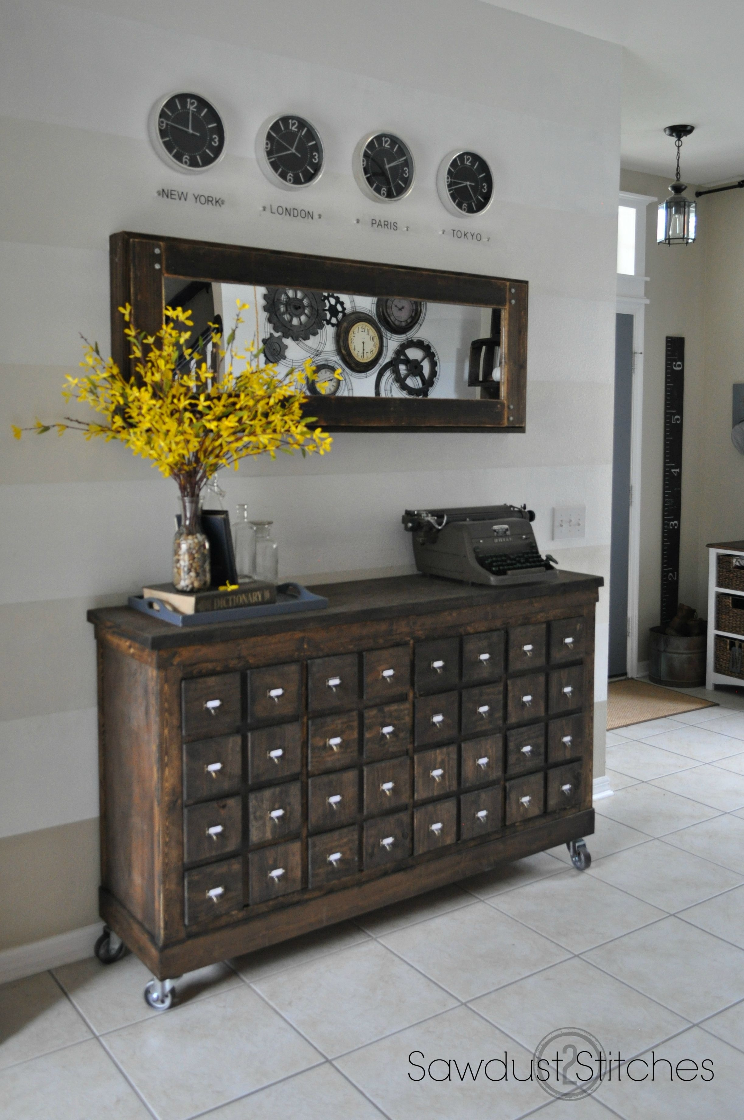Ikea Cubbies Into A Rustic Apothecary | Diy Home Decor | Pinterest inside Helms Sideboards (Image 18 of 30)