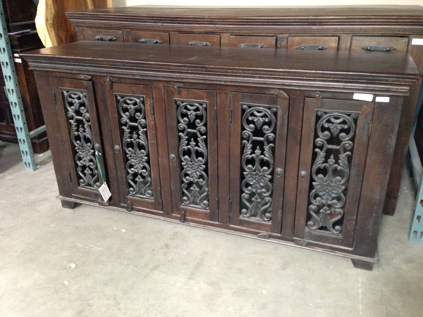 Imported Rustic Sideboards From India, China, Indonesia And Mexico Within Iron Sideboards (View 14 of 30)