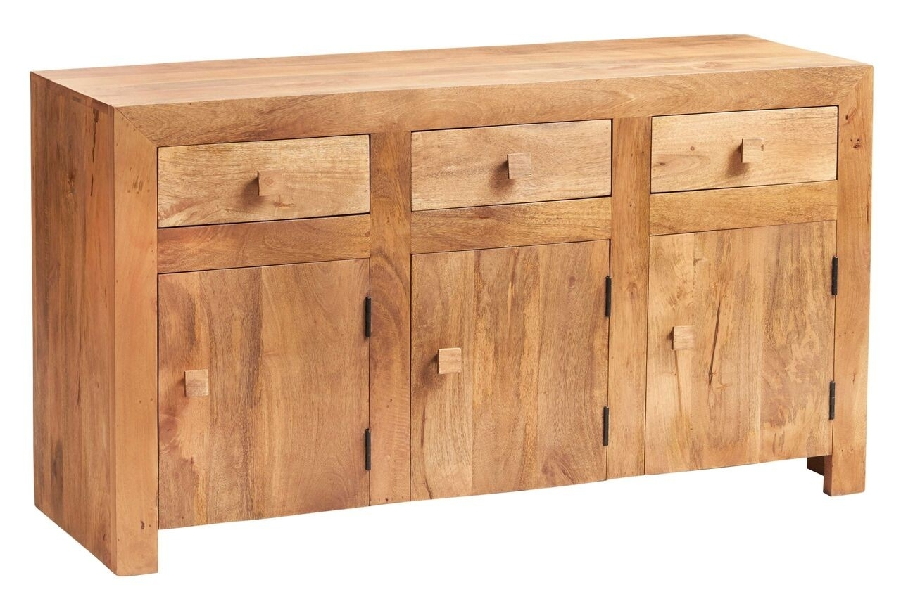 Indian Hub Toko Light Mango Large Sideboard From The Bed Station pertaining to Natural Mango Wood Finish Sideboards (Image 10 of 30)