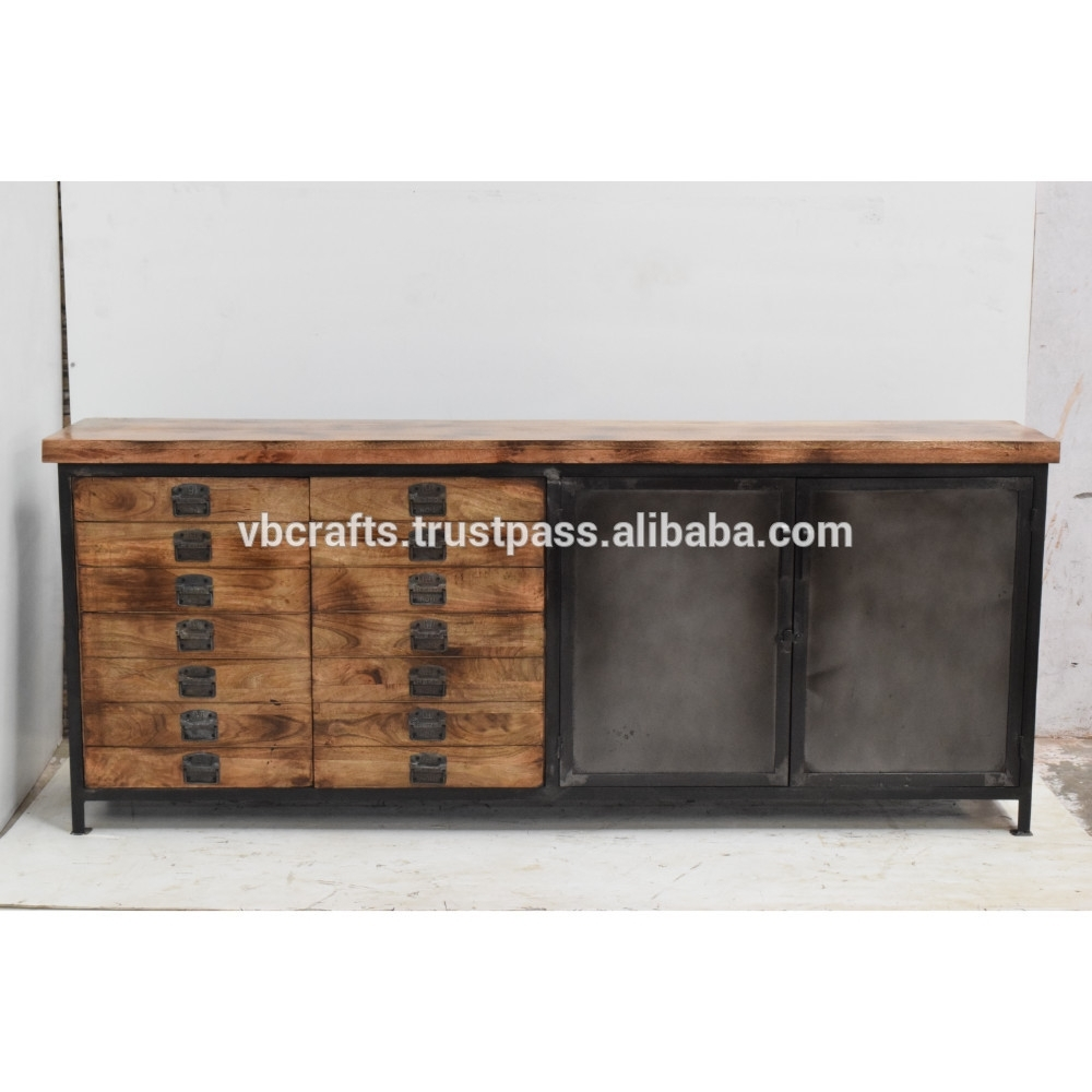 Industrial Metal Multidrawer Sideboard - Buy Industrial Metal Iron regarding Corrugated Metal Sideboards (Image 11 of 30)