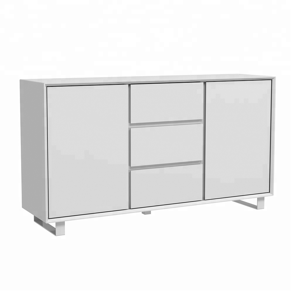 Industrial Metal Wood Sideboard, Industrial Metal Wood Sideboard with Corrugated Natural 4-Drawer Sideboards (Image 13 of 30)