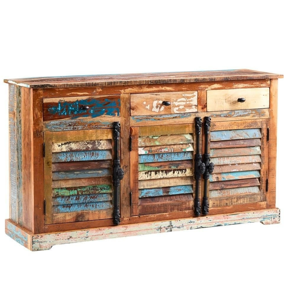 Instrument Boat Large Sideboard [Reclaimed Wood] | Instrument pertaining to Reclaimed Pine Turquoise 4-Door Sideboards (Image 13 of 30)