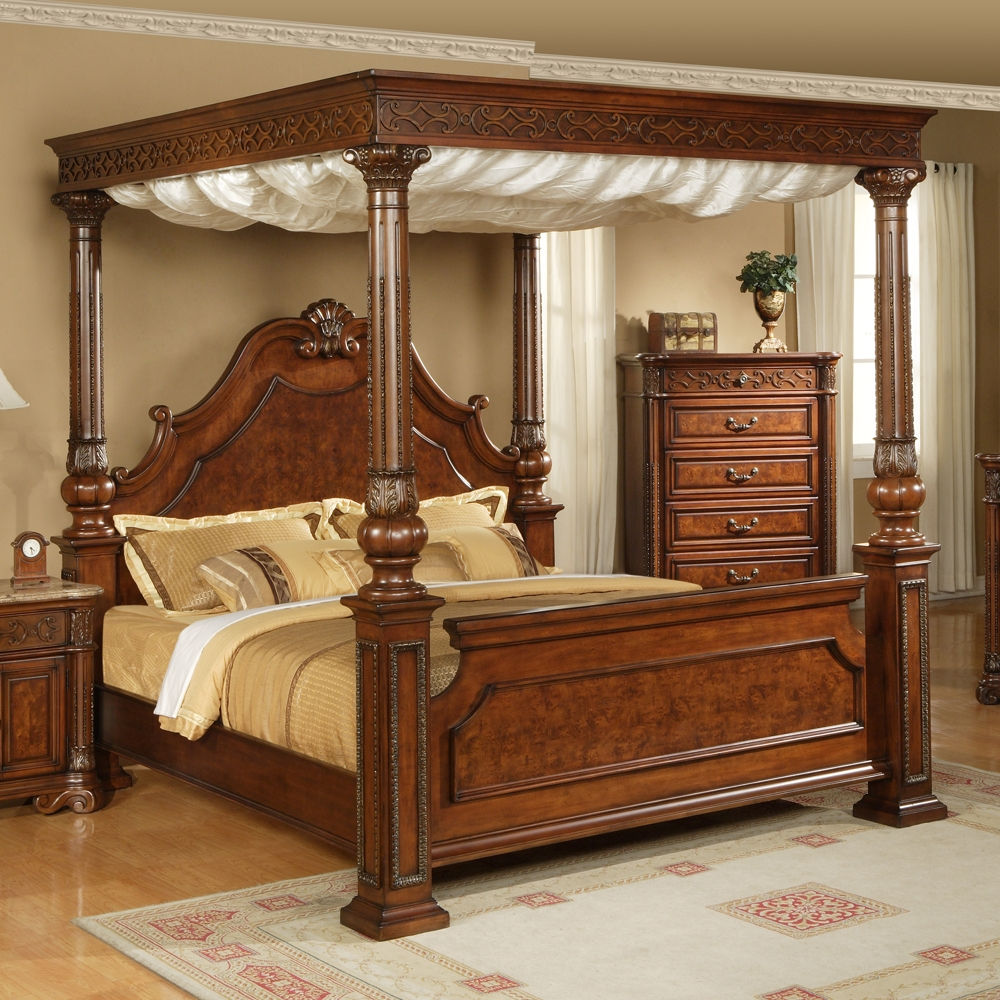 Interesting King Size Canopy Bed Cool Designs | King Beds regarding Hartigan 2-Door Sideboards (Image 20 of 30)