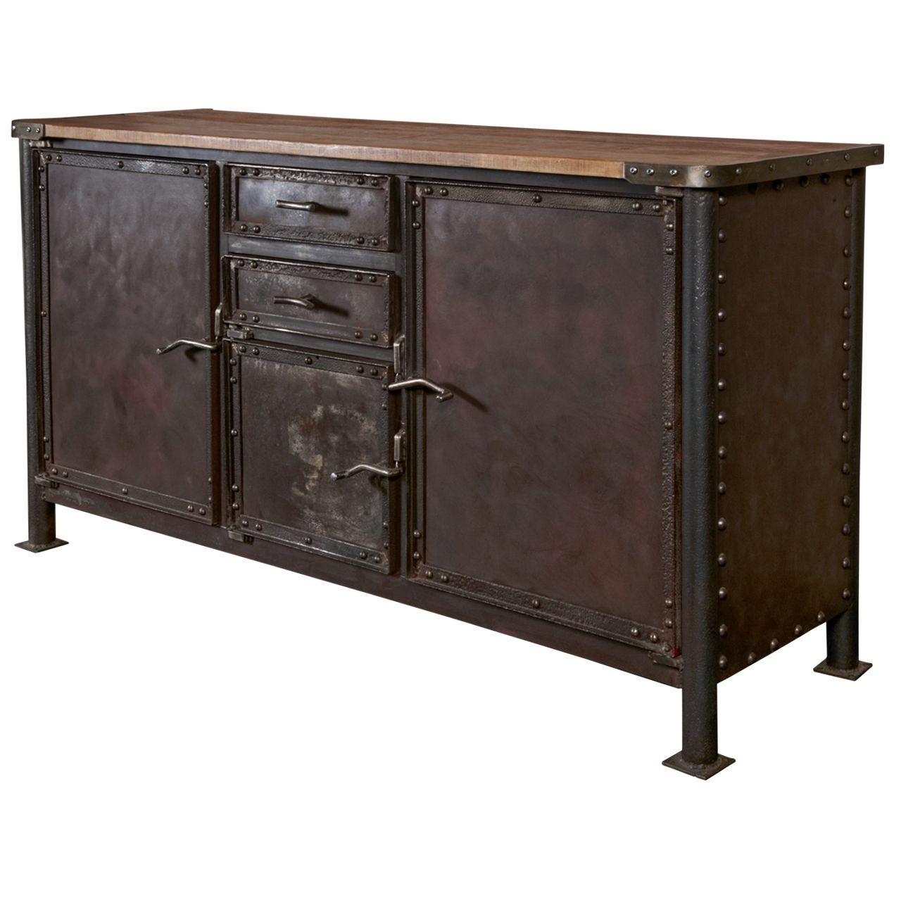 Iron And Oak Industrial Buffet | Current File | Pinterest within Iron Sideboards (Image 15 of 30)