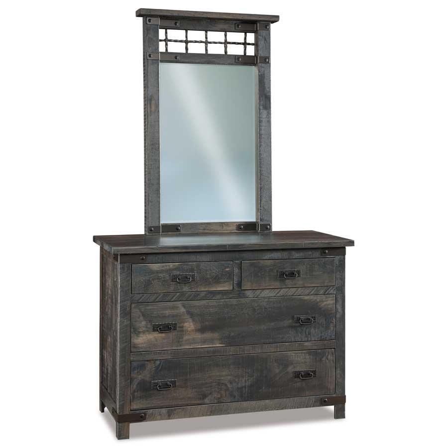 Ironwood 4 Drawer Dresser - Buy Custom Amish Furniture regarding Ironwood 4-Door Sideboards (Image 12 of 30)