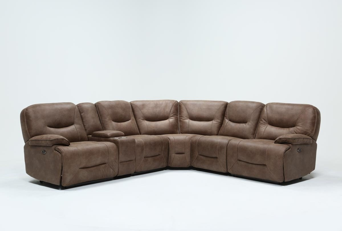 Jackson 6 Piece Power Reclining Sectional | Living Spaces intended for Jackson 6 Piece Power Reclining Sectionals With  Sleeper (Image 9 of 30)
