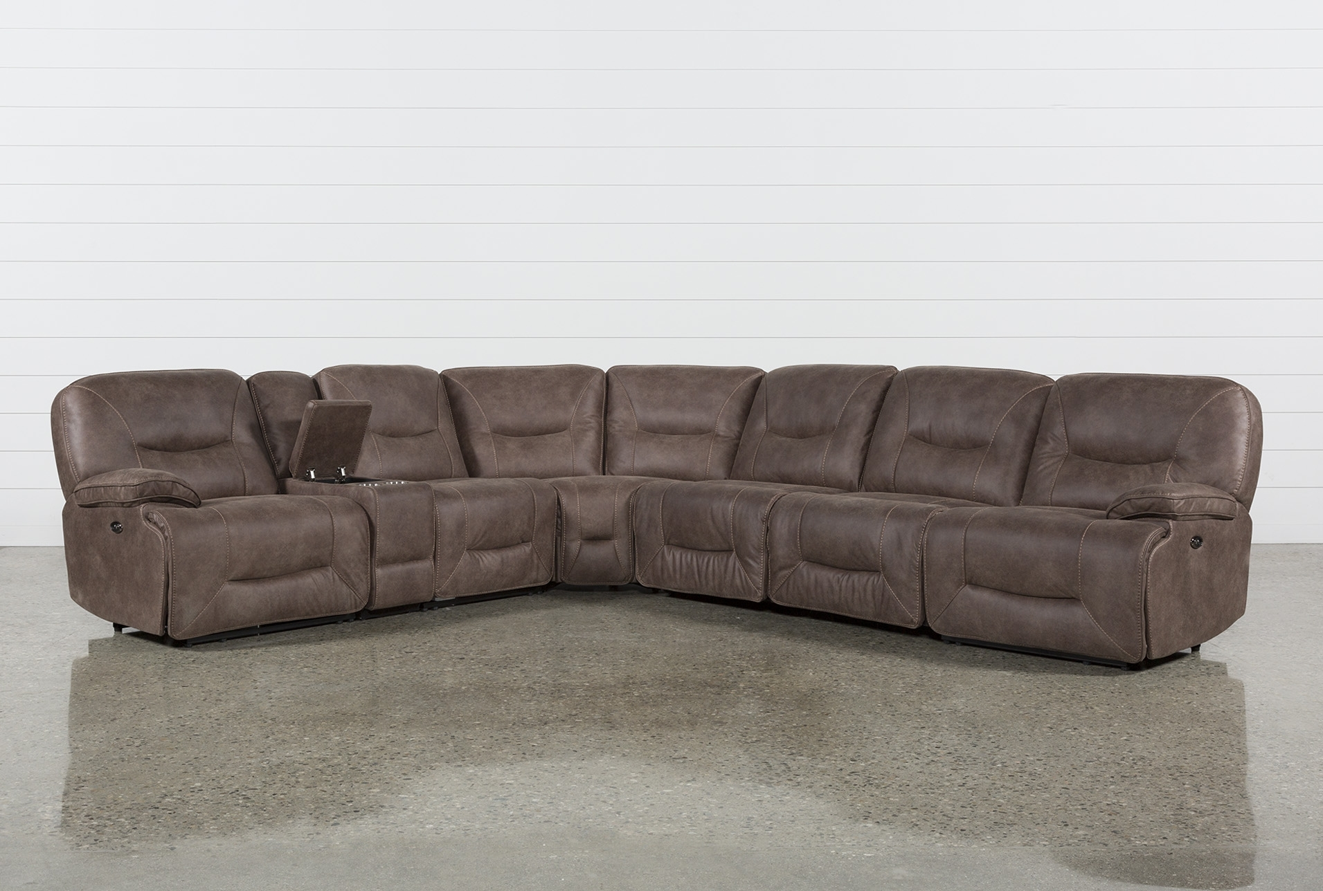 Jackson 6 Piece Power Reclining Sectional W/ Sleeper | Products inside Jackson 6 Piece Power Reclining Sectionals With  Sleeper (Image 7 of 30)