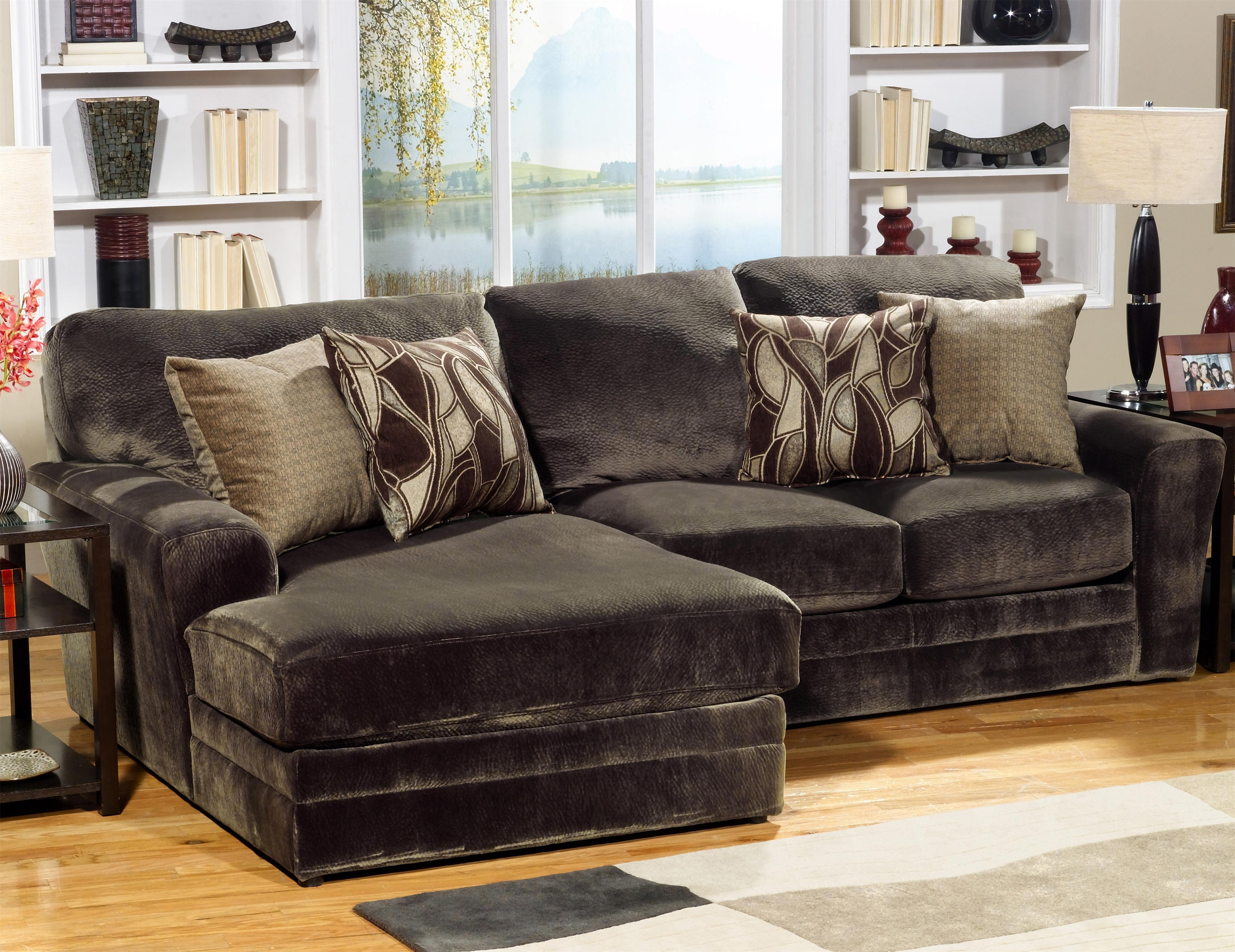 Jackson Furniture 4377 Everest 2 Piece Sectional Sofa With Lsf with Burton Leather 3 Piece Sectionals With Ottoman (Image 10 of 30)