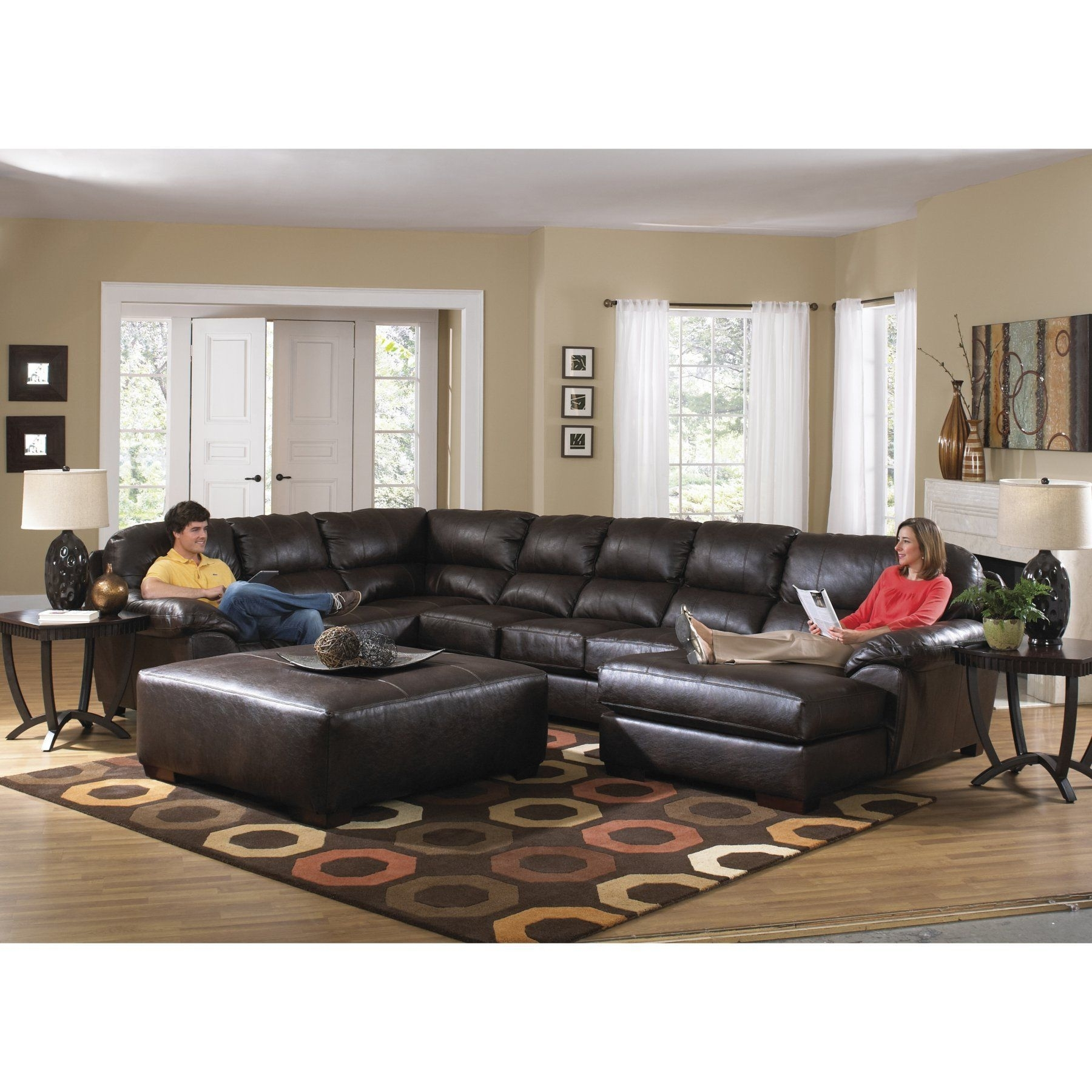 Jackson Furniture Lawson Chaise Sectional Sofa - Jac493 | Products in Jackson 6 Piece Power Reclining Sectionals (Image 17 of 30)