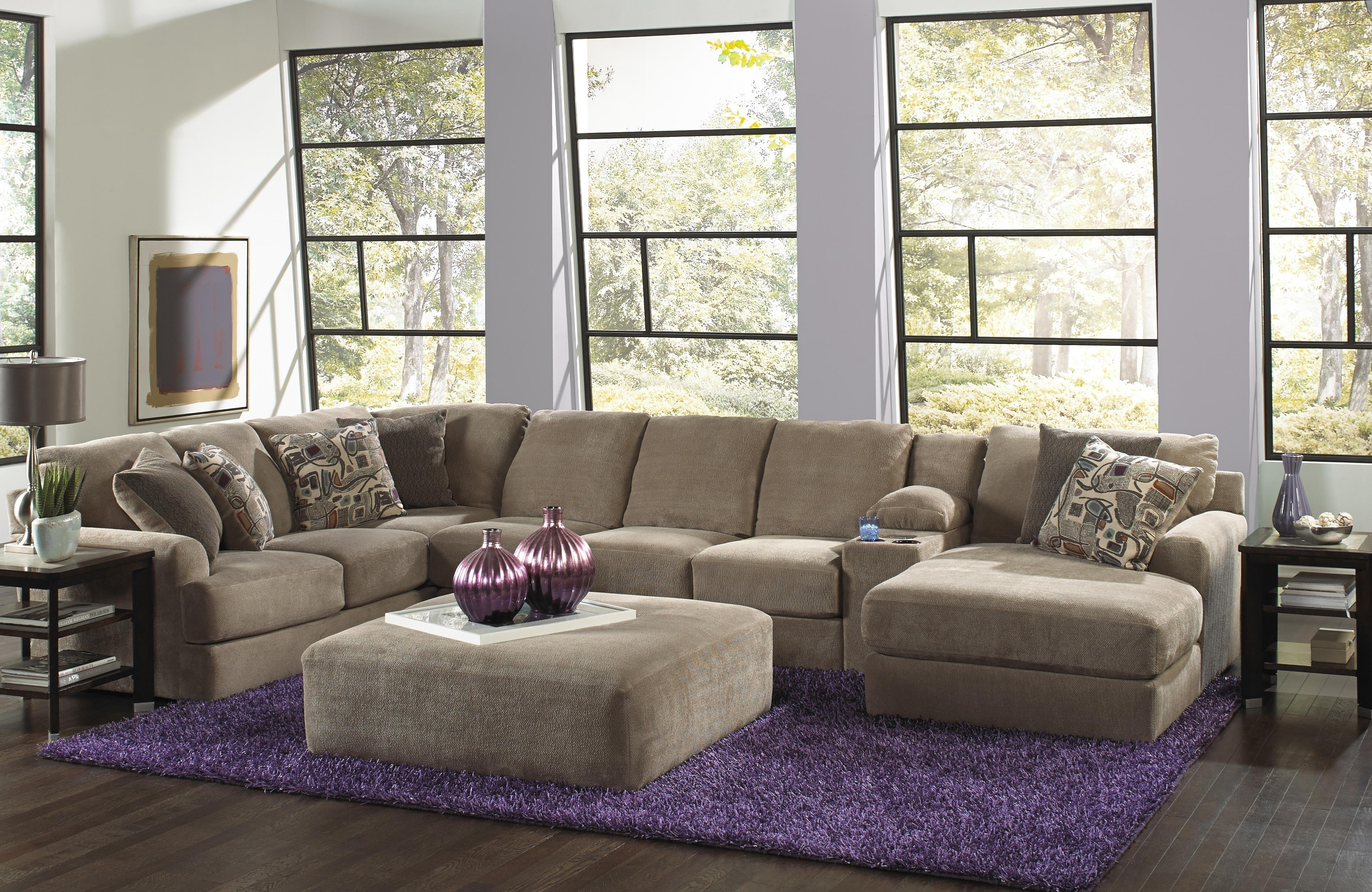 Jackson Furniture Malibu Six Seat Sectional Sofa With Console with Jackson 6 Piece Power Reclining Sectionals (Image 19 of 30)