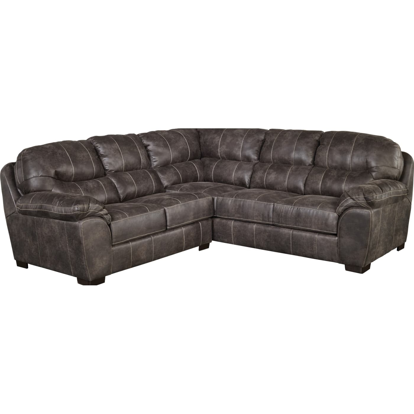 Jackson Grant Steel 2-Piece Sectional Sofa & Reviews - Goedekers inside Jackson 6 Piece Power Reclining Sectionals With  Sleeper (Image 12 of 30)