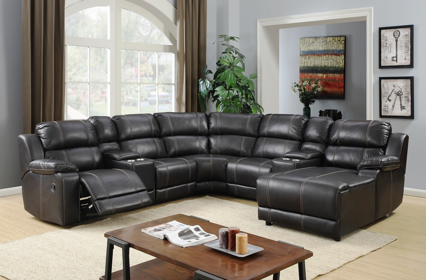 Jackson Reclining Sectional inside Jackson 6 Piece Power Reclining Sectionals (Image 21 of 30)