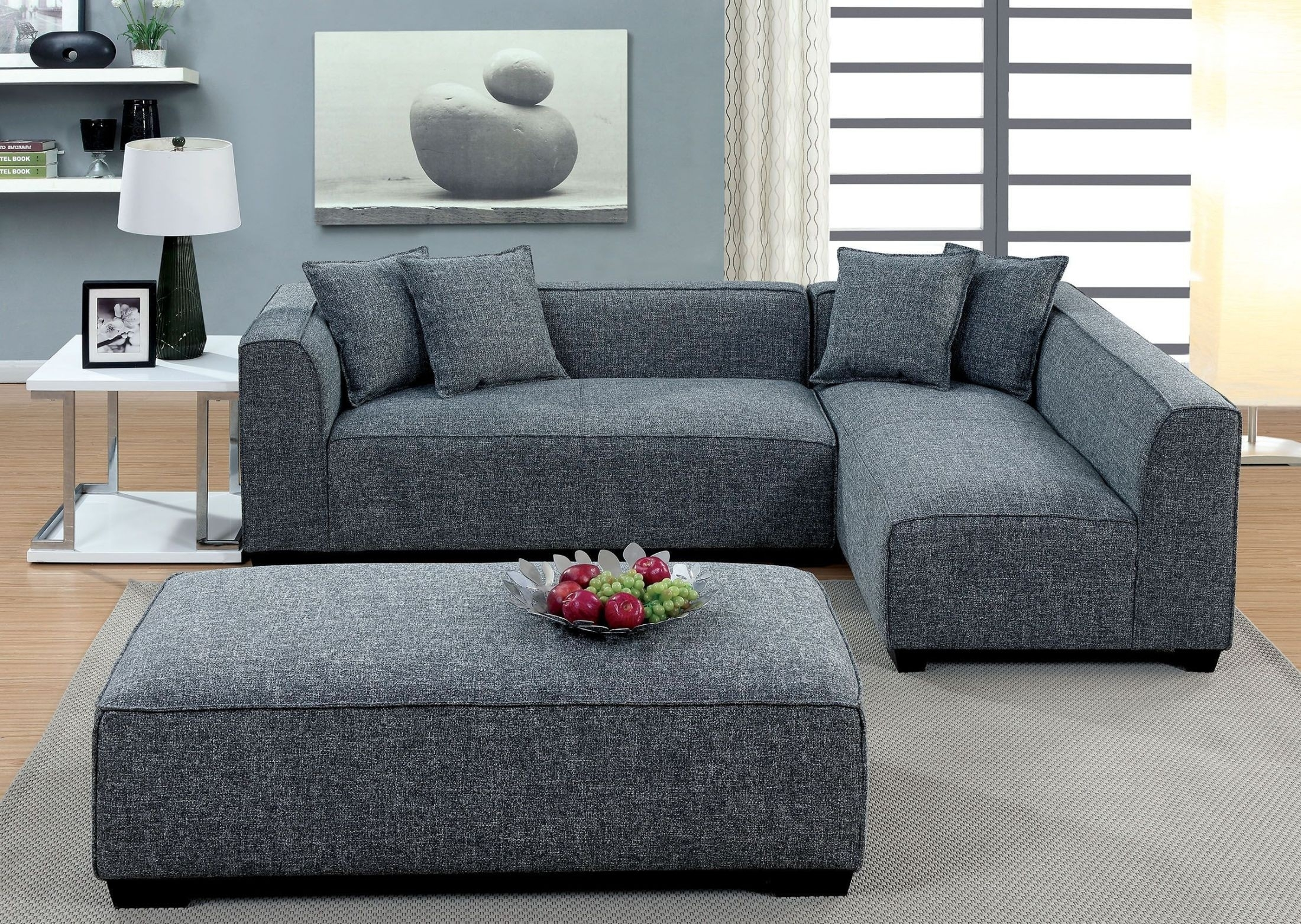 Jaylene Gray Sectional From Furniture Of America | Coleman Furniture with regard to Lucy Dark Grey 2 Piece Sectionals With Laf Chaise (Image 12 of 30)