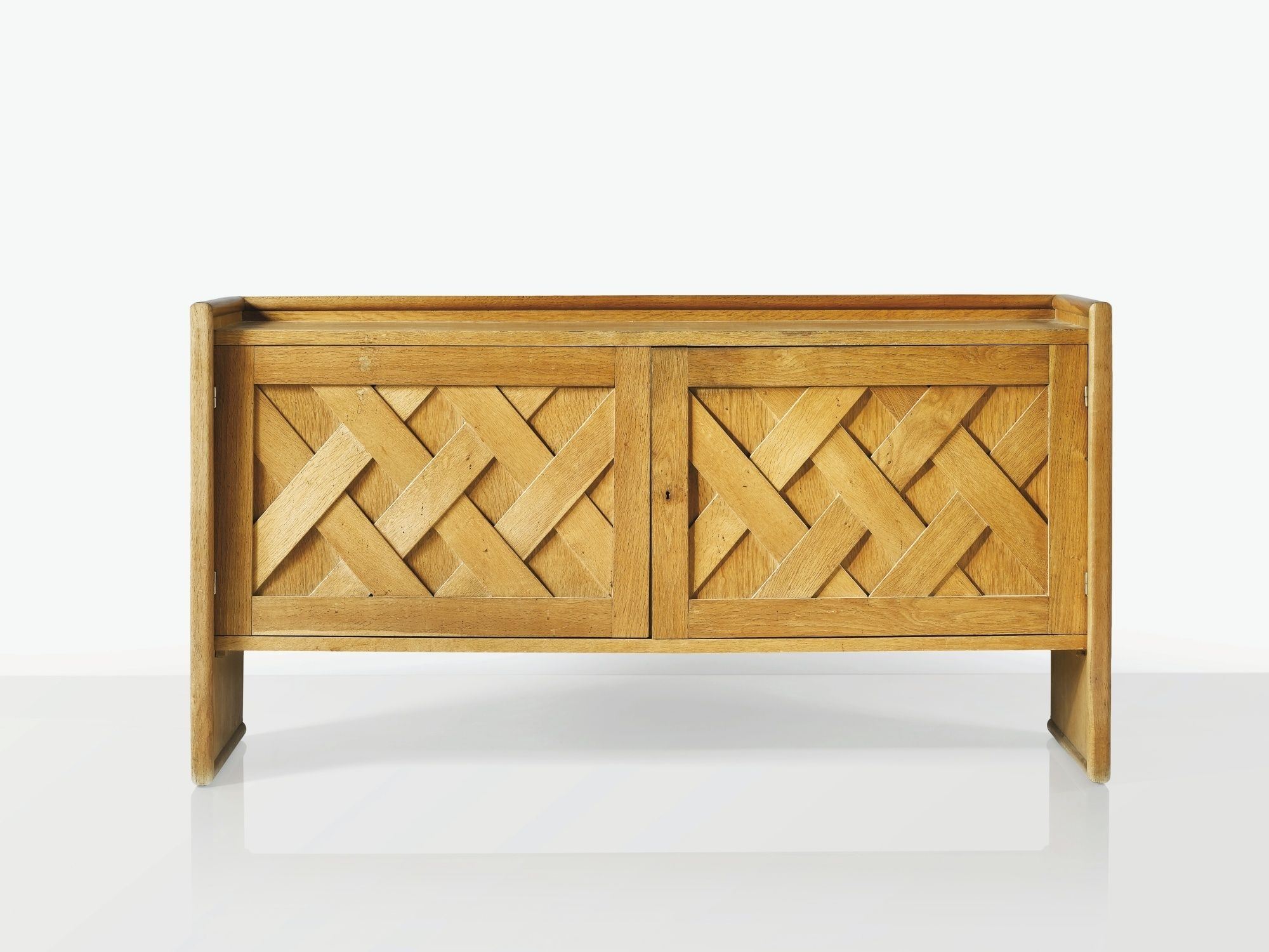Jean Royère / Buffet Croisillon | Cabinet | Pinterest | Furniture Pertaining To Mid Burnt Oak 71 Inch Sideboards (View 12 of 30)