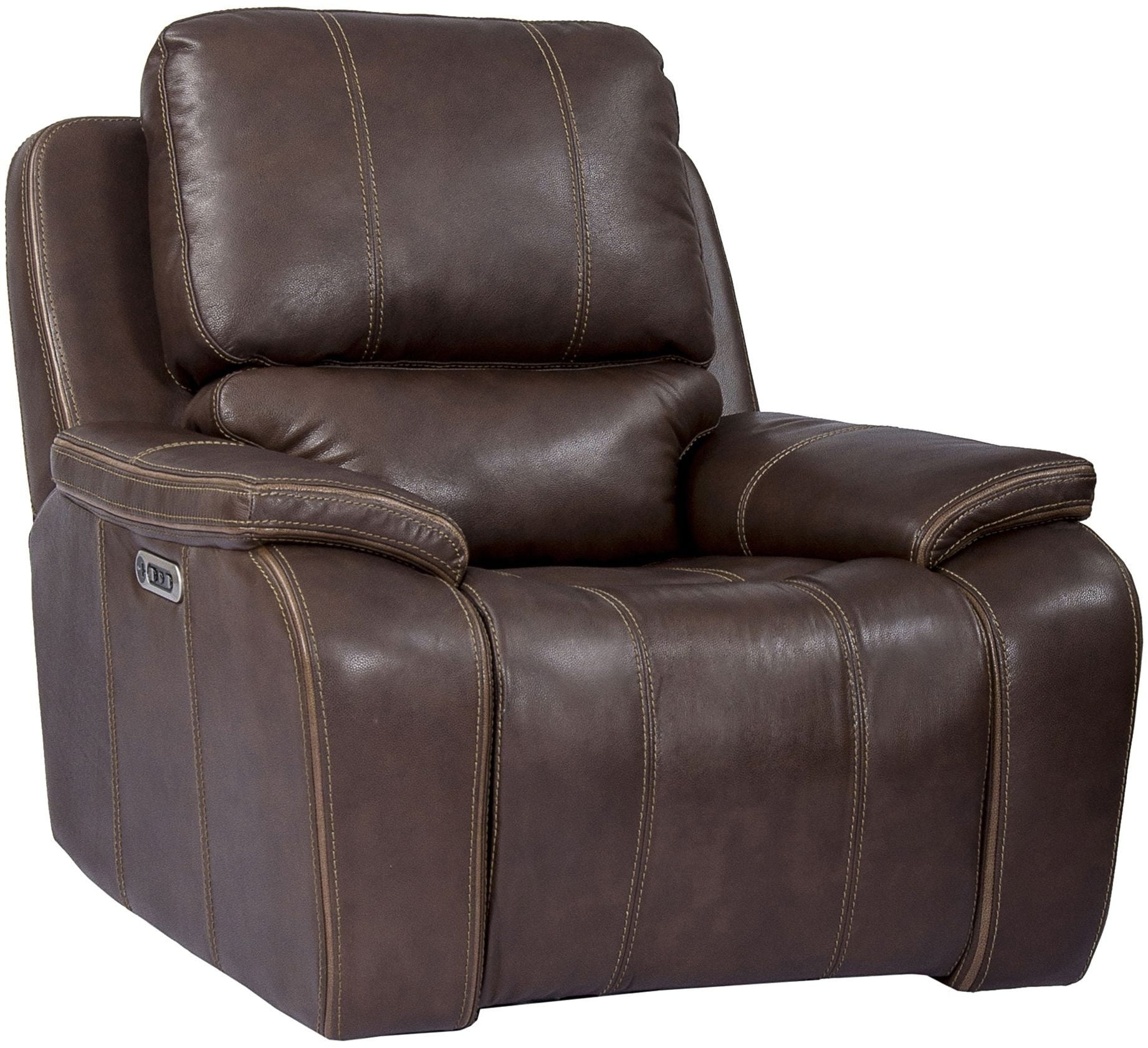 Jennings Waylon Mocha Power Recliner From Prime Resource inside Waylon 3 Piece Power Reclining Sectionals (Image 13 of 30)