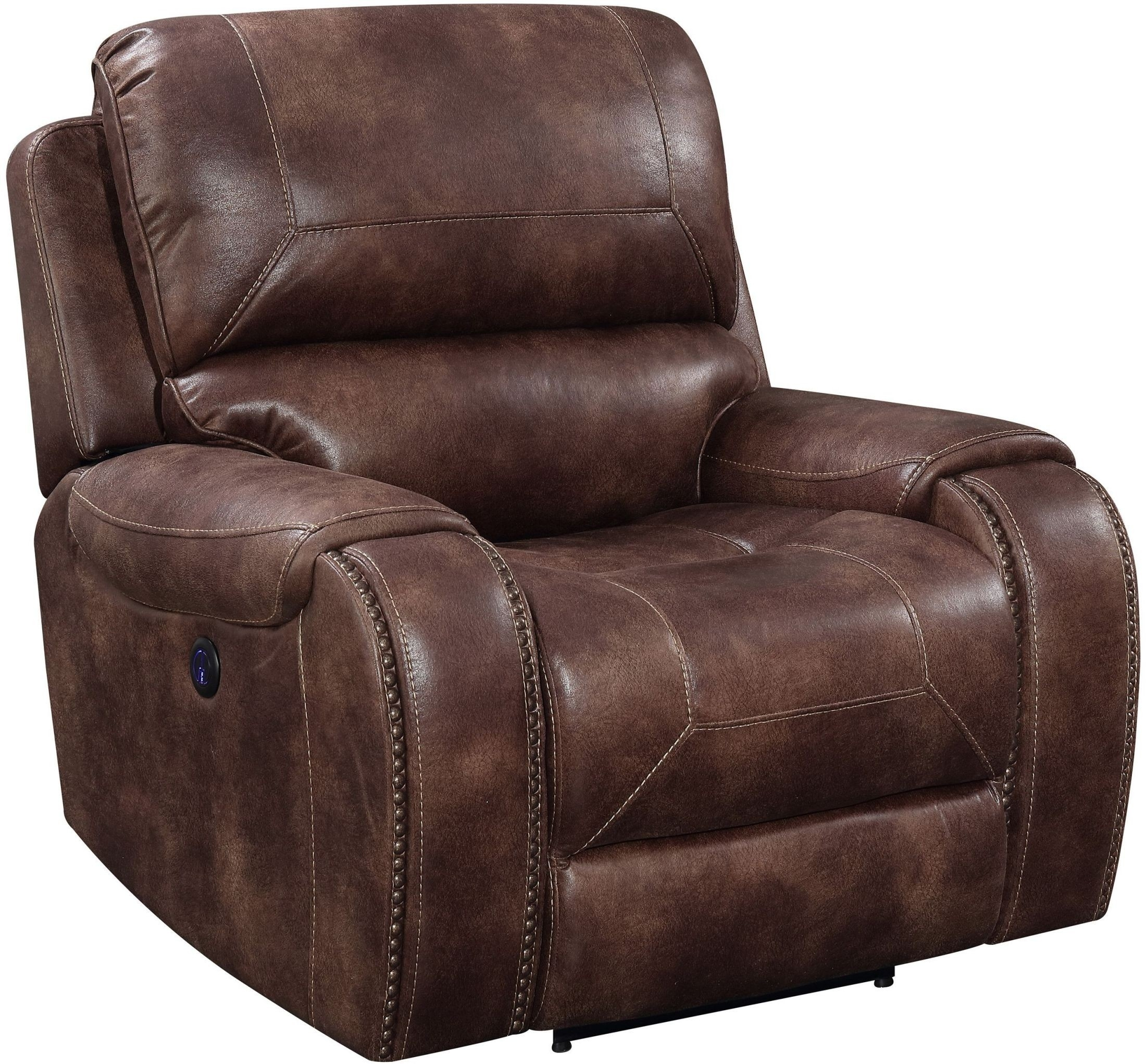 Jennings Waylon Mocha Power Recliner From Prime Resource throughout Waylon 3 Piece Power Reclining Sectionals (Image 14 of 30)