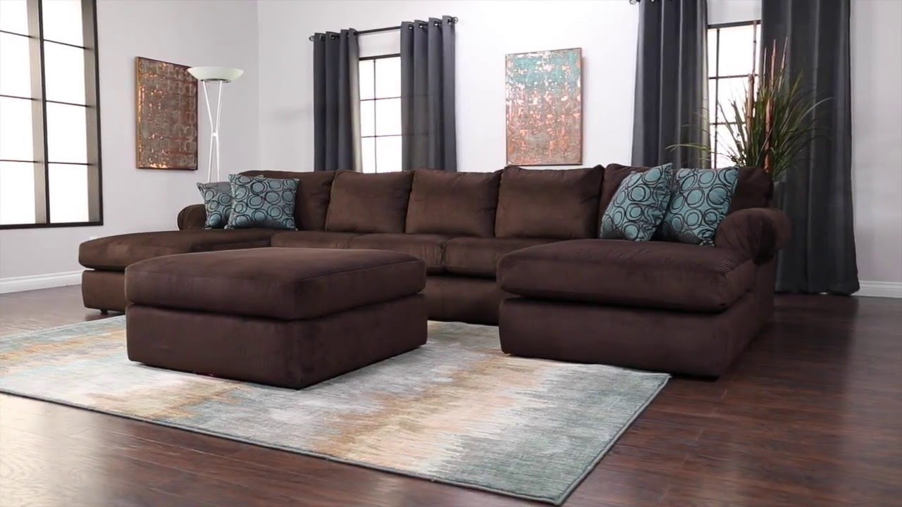 Jerome's Furniture Scottsdale Sectional - Youtube throughout Collins Sofa Sectionals With Reversible Chaise (Image 14 of 30)