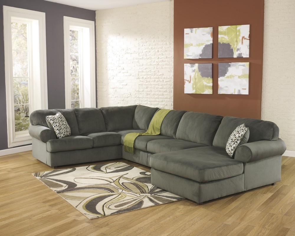 Jessa Place - Pewter 3 Pc. Raf Chaise Sectional | 39803/17/34/66 throughout Lucy Grey 2 Piece Sectionals With Laf Chaise (Image 11 of 30)