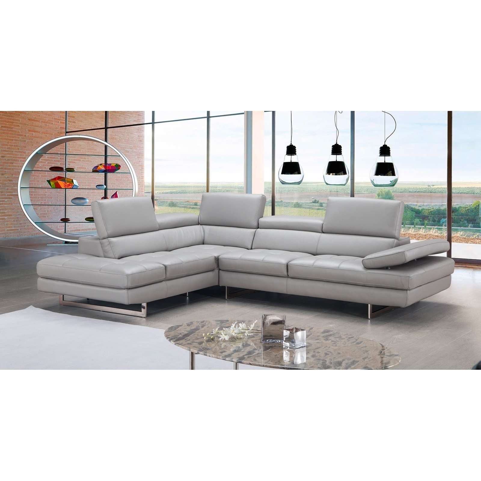 J&m Furniture Aurora Chaise Sectional Sofa | Hayneedle with Aurora 2 Piece Sectionals (Image 19 of 30)