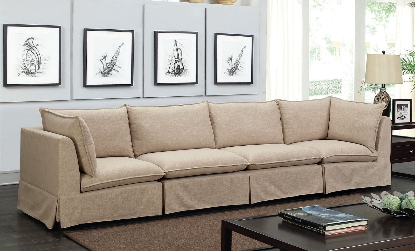 Joelle 3 Piece Beige Sectional From Furniture Of America | Coleman pertaining to Adeline 3 Piece Sectionals (Image 21 of 30)