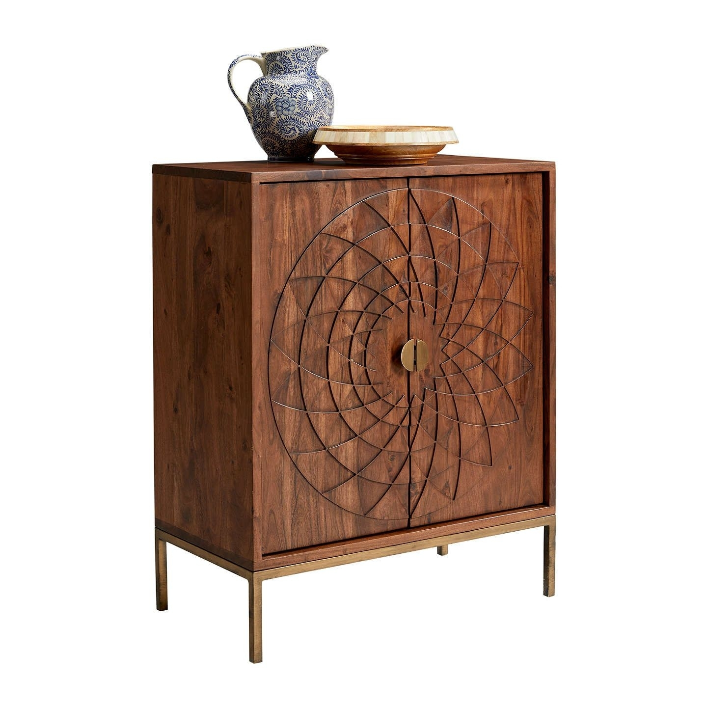 John Lewis & Partners Array Fusion Cabinet, Dark Brown | Sitting within 4-Door/4-Drawer Cast Jali Sideboards (Image 14 of 30)