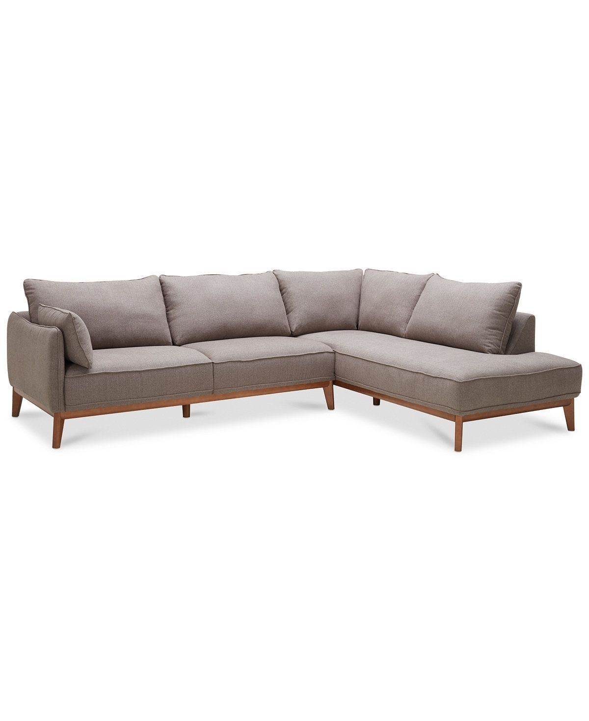 Jollene 113 2-Pc. Sectional, Created For Macy's | Sofas | Pinterest pertaining to Turdur 2 Piece Sectionals With Raf Loveseat (Image 10 of 30)