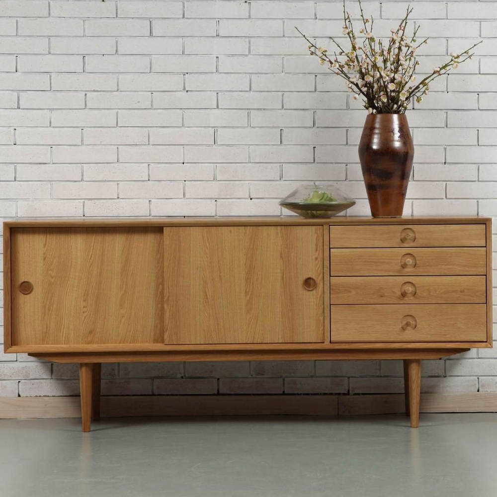 Jorgen Sideboard - Oak - 175X45X76Cm - Icondesign with regard to Tobias 4 Door Sideboards (Image 9 of 30)