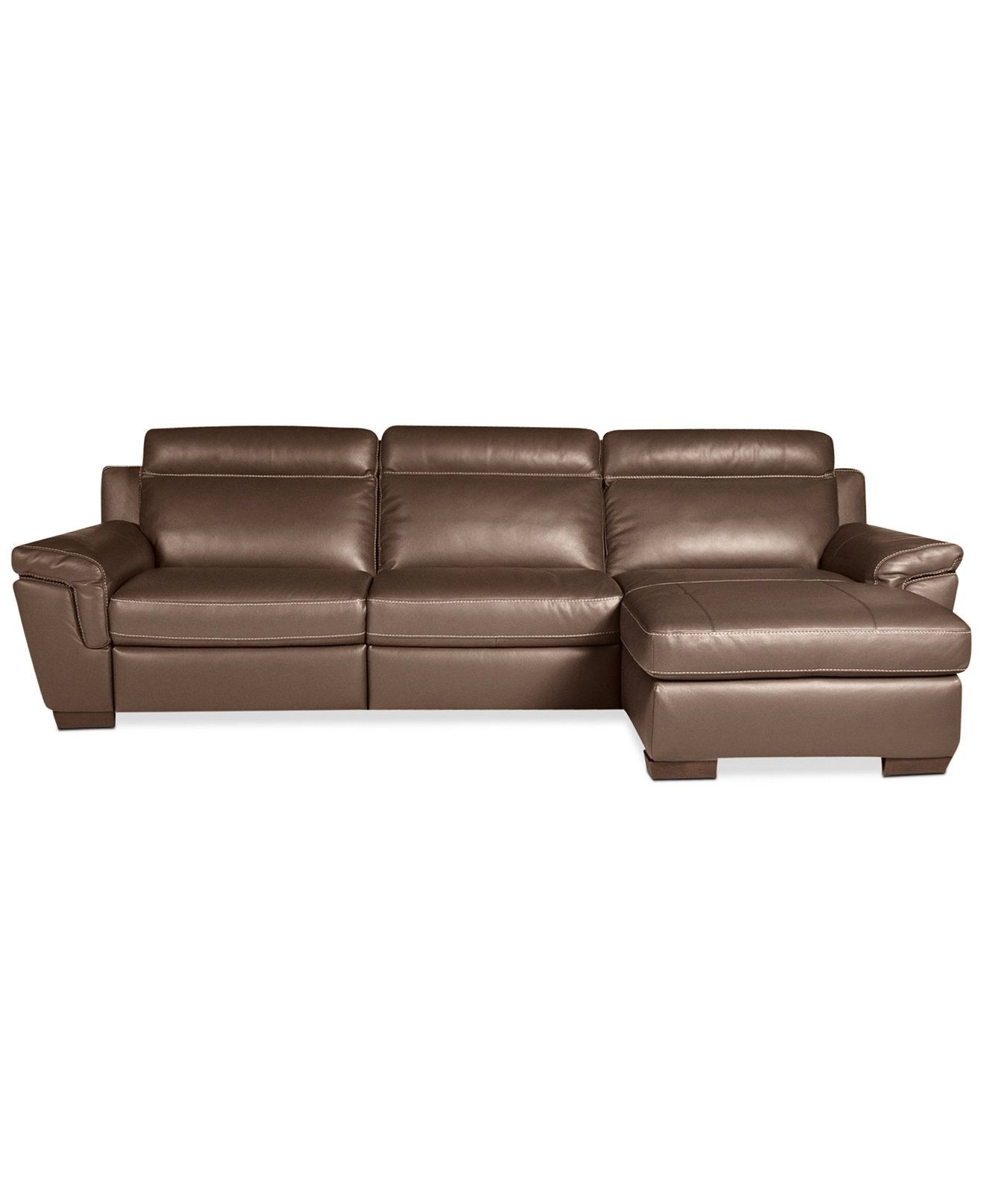 Julius 3-Piece Leather Power Motion Chaise Sectional Sofa (Power inside Declan 3 Piece Power Reclining Sectionals With Right Facing Console Loveseat (Image 20 of 30)