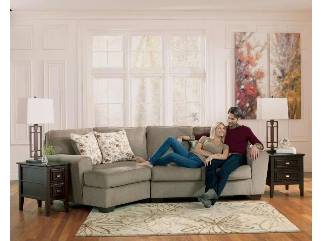Just The Right Size For A Smaller Living Area, This Two-Piece with Blaine 4 Piece Sectionals (Image 15 of 30)
