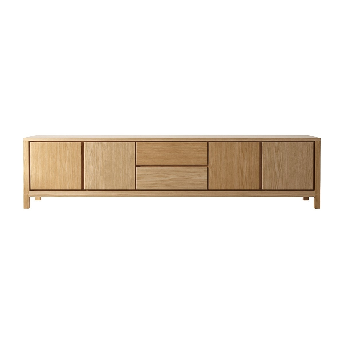 Karpenter - Solid Sideboard 2 Drawers & 4 Doors - Modern Sideboards intended for Open Shelf Brass 4-Drawer Sideboards (Image 8 of 30)