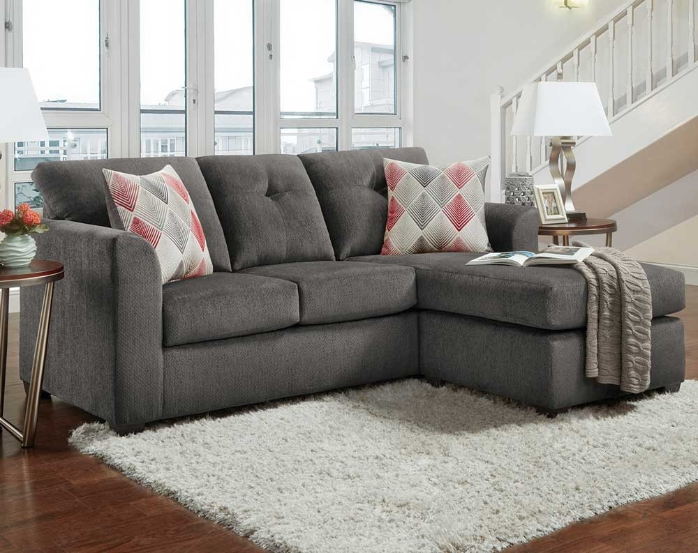 Kelly Gray 2 Pc. Sectional Sofa | American Freight throughout Mesa Foam 2 Piece Sectionals (Image 13 of 30)