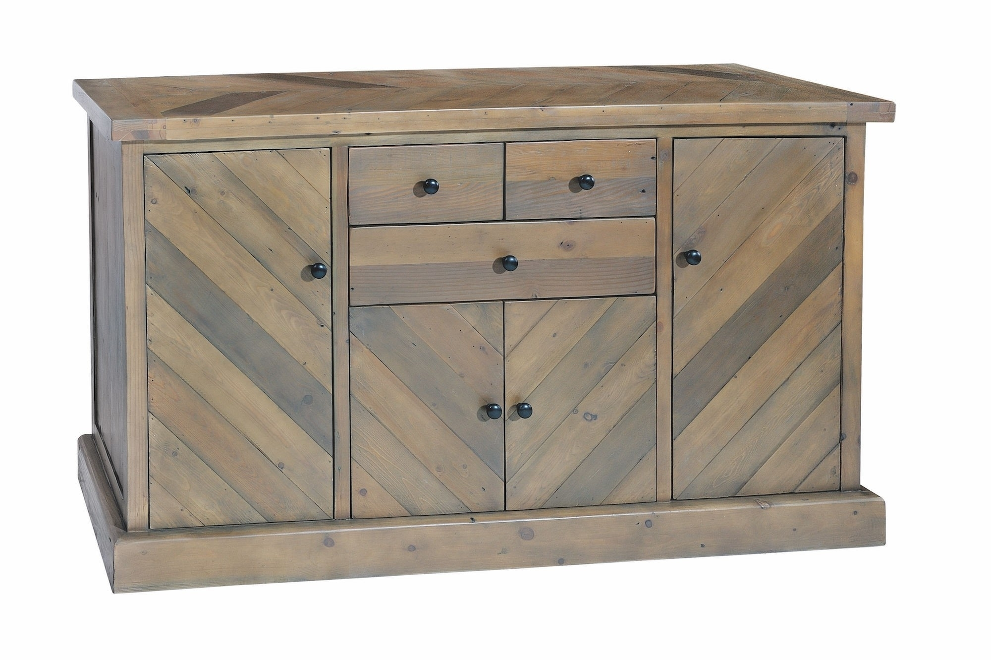 Kempston Parquet Large Sideboard - Style Our Home with Parquet Sideboards (Image 11 of 30)