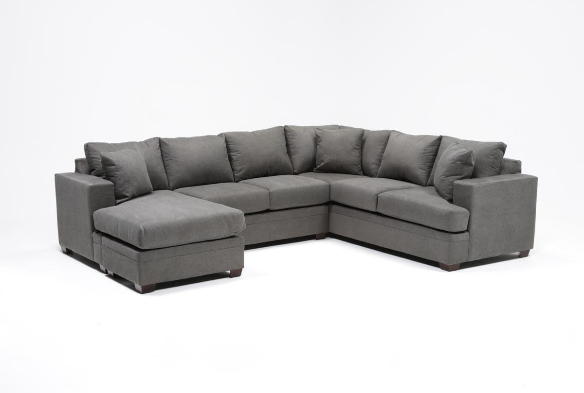 Kerri 2 Piece Sectional W/laf Chaise | Living Spaces regarding Kerri 2 Piece Sectionals With Laf Chaise (Image 15 of 30)