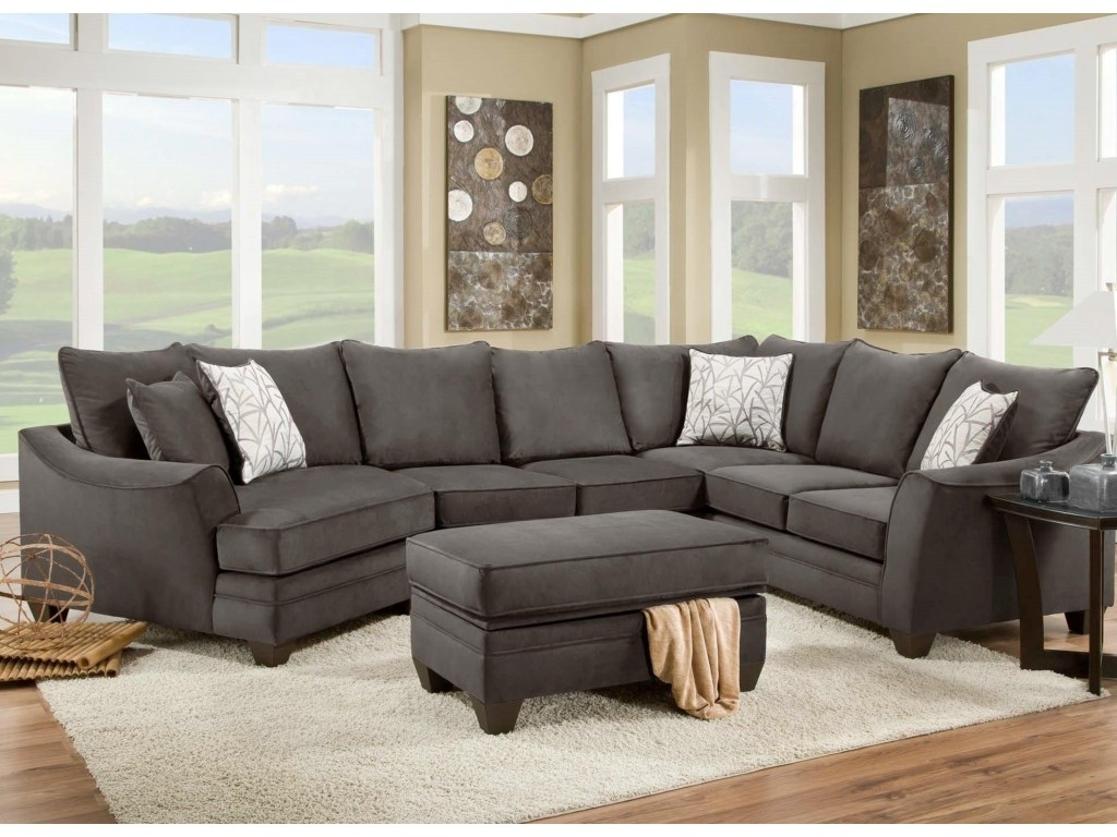 Kerri 2 Piece Sectional W Raf Chaise Living Spaces Couch regarding Kerri 2 Piece Sectionals With Raf Chaise (Image 16 of 30)