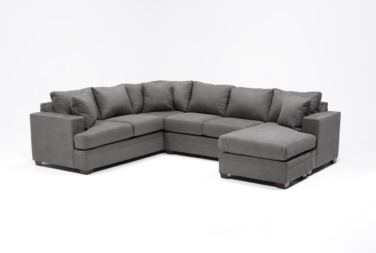 Kerri 2 Piece Sectional W/raf Chaise | Living Spaces in Mcdade Graphite 2 Piece Sectionals With Laf Chaise (Image 11 of 30)