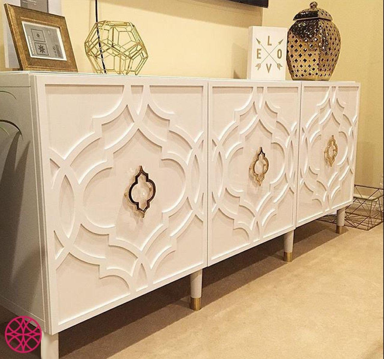 """Khloe Decorative Panel For Ikea Besta Door Size 23.625"""" X 25.25 Throughout Rani 4 Door Sideboards (Photo 23 of 30)"""
