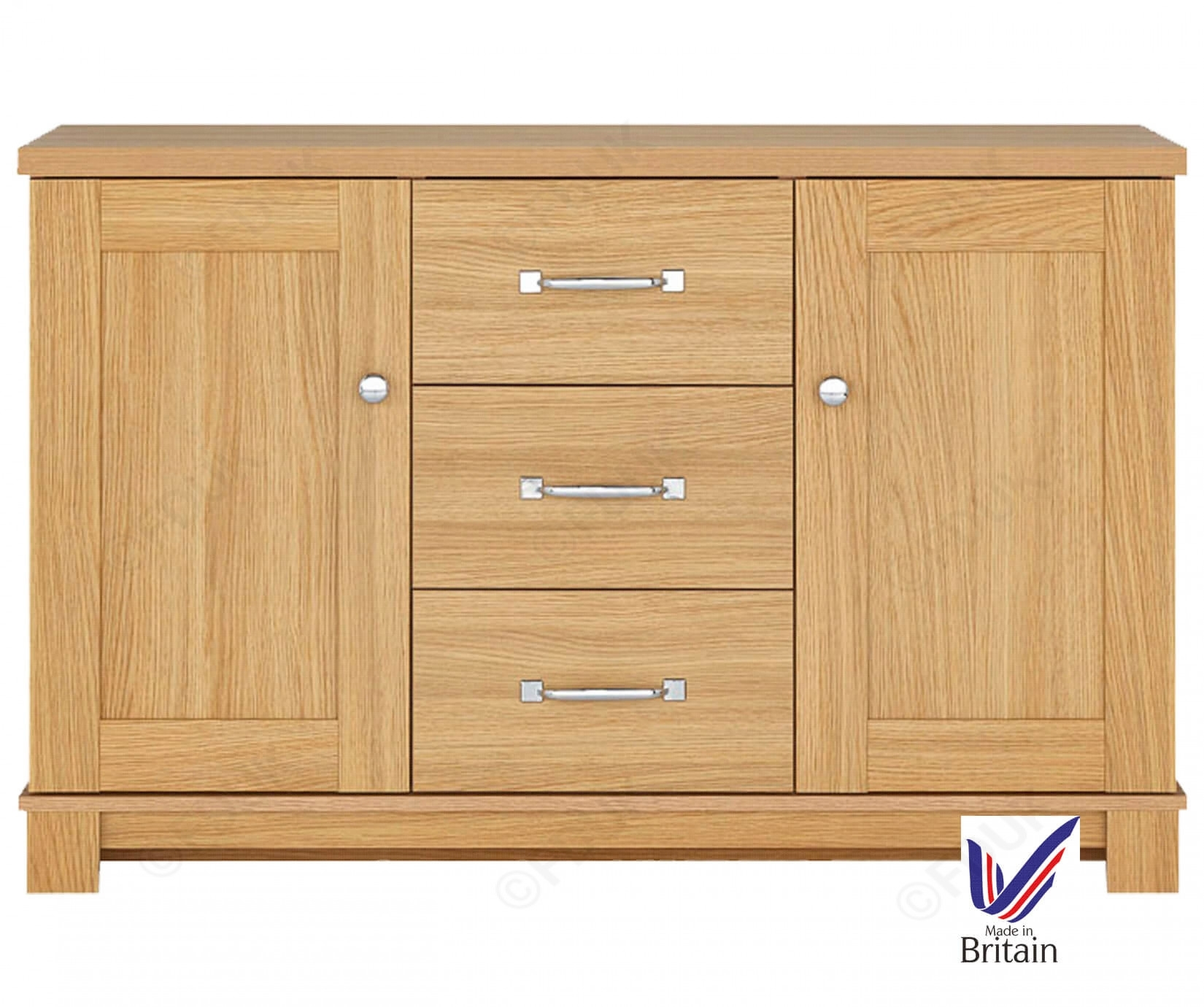 Kingstown Dalby| Dalby 2 Door 3 Center Drawer Sideboard within Walnut Finish 2-Door/3-Drawer Sideboards (Image 12 of 30)