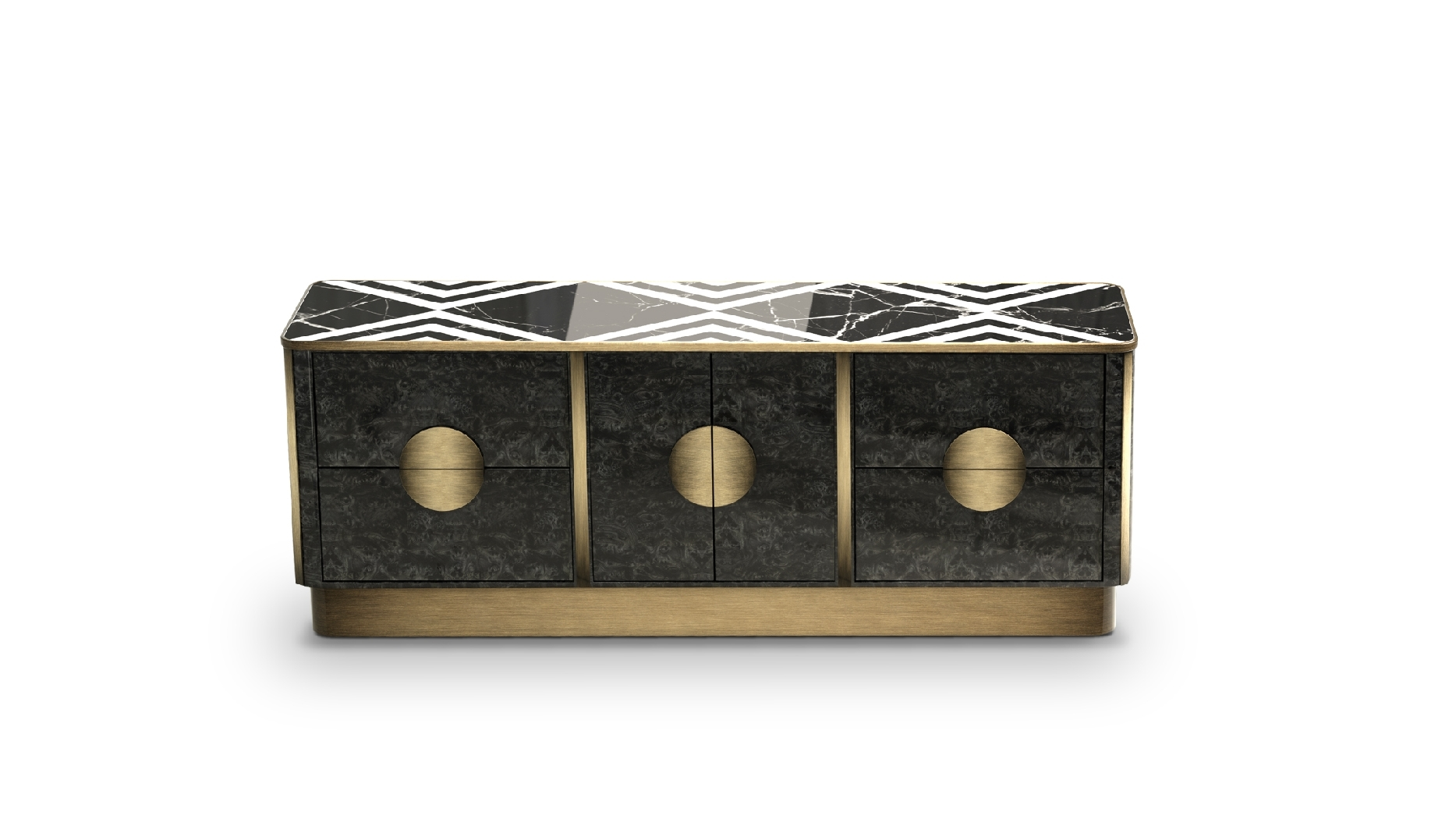 Knox Sideboardporustudio | Breath Out Creativity with Aged Brass Sideboards (Image 17 of 30)