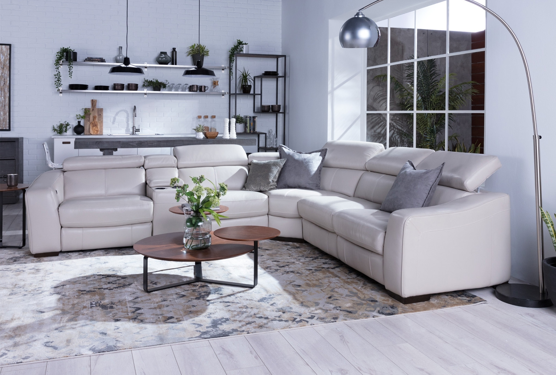 Kristen Silver Grey 6 Piece Power Reclining Sectional | Products Throughout Kristen Silver Grey 6 Piece Power Reclining Sectionals (Photo 3 of 30)