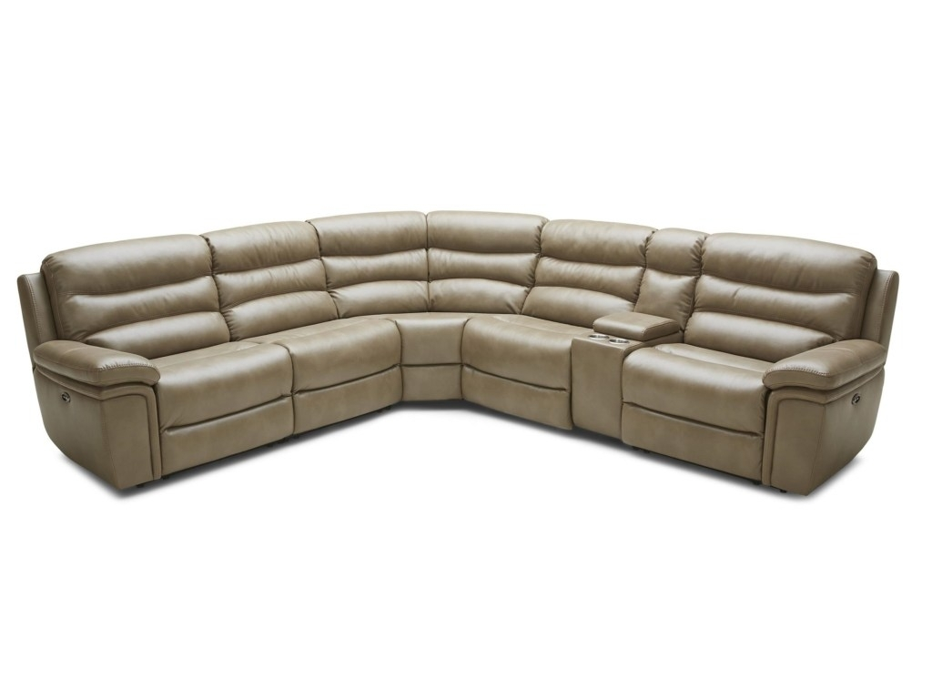 Kuka Home Casual Six Piece Power Reclining Sectional Sofa With Pertaining To Norfolk Chocolate 6 Piece Sectionals With Raf Chaise (Photo 27 of 30)