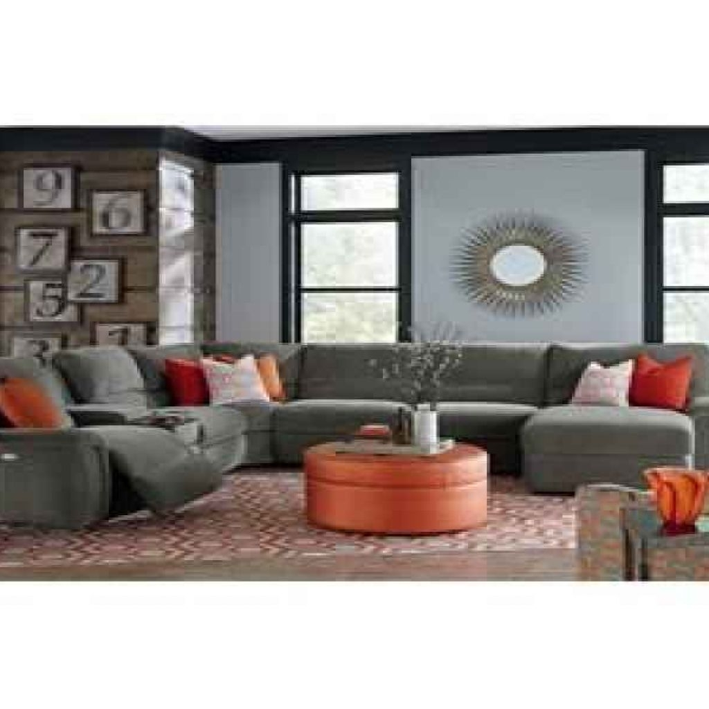 La Z Boy Aspen Seven Piece Power Reclining Sectional Sofa With From within Aspen 2 Piece Sectionals With Laf Chaise (Image 17 of 30)