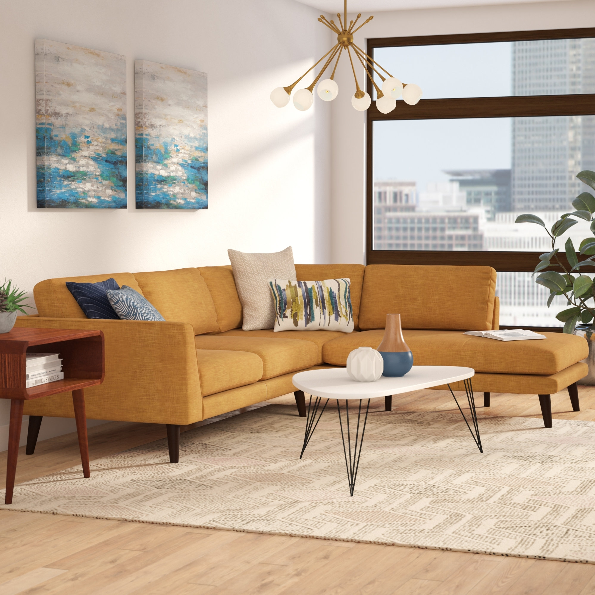 Langley Street Cottage Sectional & Reviews | Wayfair with Karen 3 Piece Sectionals (Image 14 of 30)
