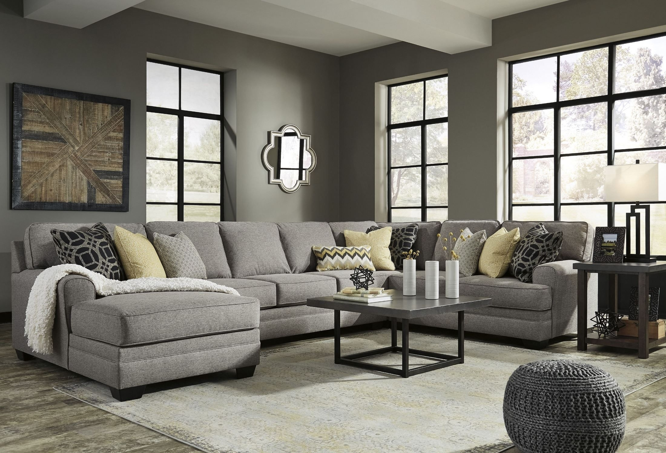 Large Chaise Sofas | Baci Living Room In Delano 2 Piece Sectionals With Laf Oversized Chaise (View 22 of 30)