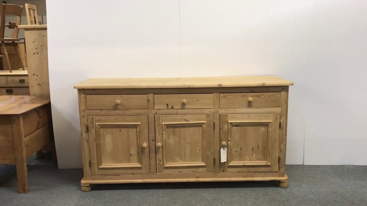 Large Reclaimed Pine Kitchen Sideboard For Sale - Pinefinders Old throughout Reclaimed Pine 4-Door Sideboards (Image 16 of 30)