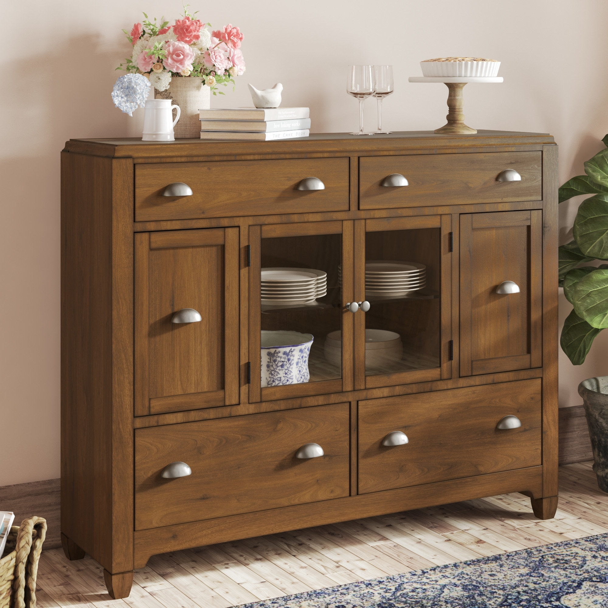 Lark Manor Ema Buffet | Wayfair with Moraga Live Edge 8 Door Sideboards (Image 21 of 30)