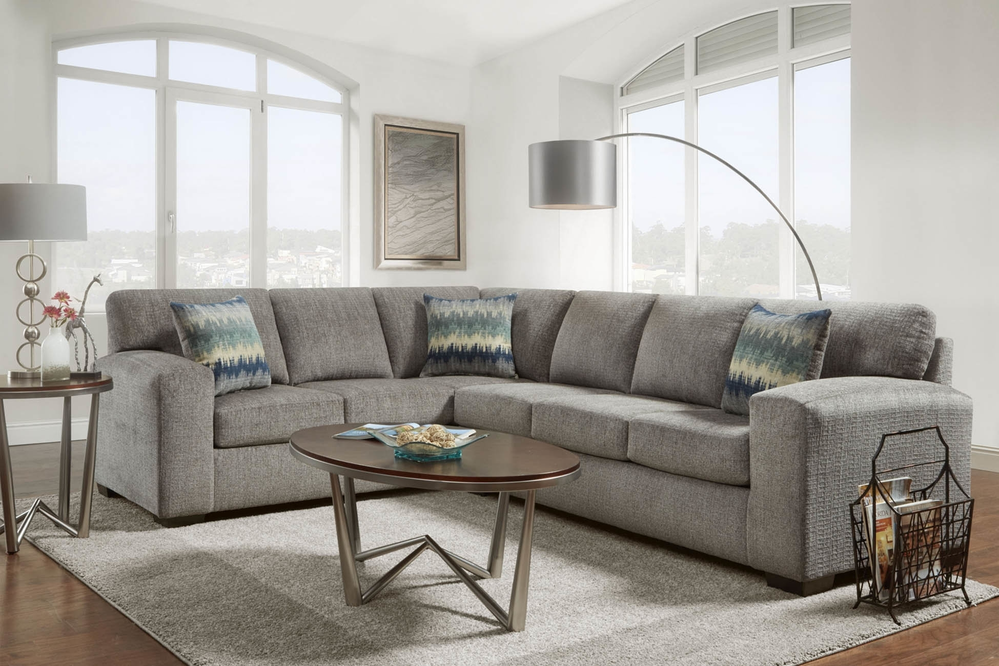 Latitude Run Takwani Sectional | Wayfair with regard to Karen 3 Piece Sectionals (Image 15 of 30)